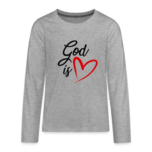 God is love 2N - Maglietta Premium a manica lunga per teenager