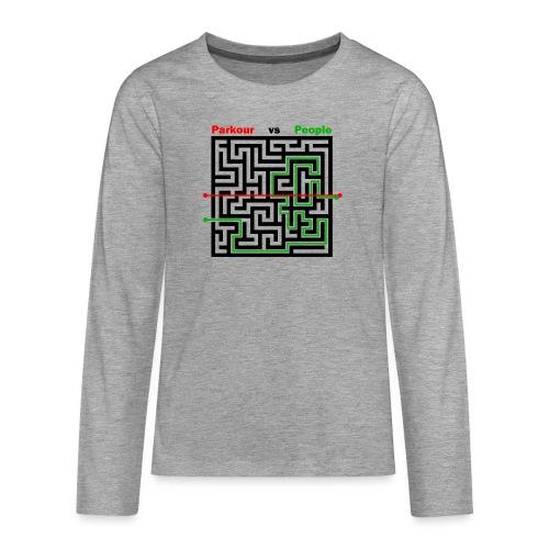 Parkour Maze parkour vs people - Teenager premium T-shirt med lange ærmer