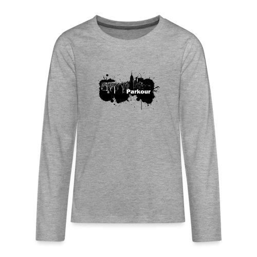 Parkour Splash New York - Teenager premium T-shirt med lange ærmer