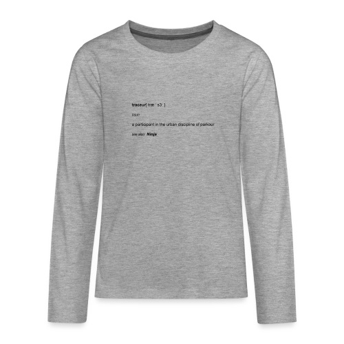 Traceur dictionary see also ninja - Teenager premium T-shirt med lange ærmer