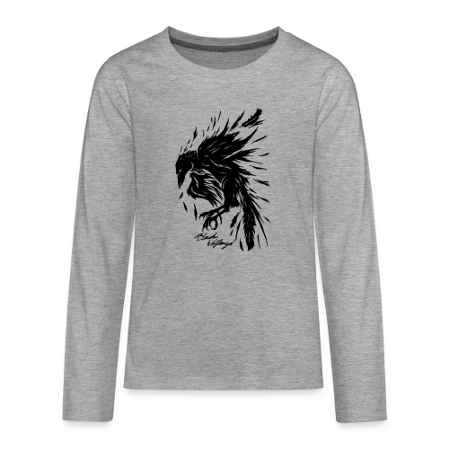 raven_tribal - Teenager Premium Langarmshirt