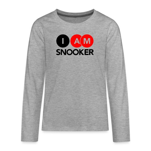 I AM SNOOKER - Teenagers' Premium Longsleeve Shirt