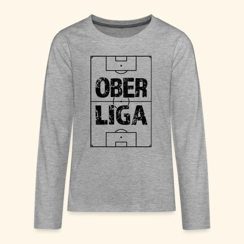 OBERLIGA im Fußballfeld - Teenager Premium Langarmshirt