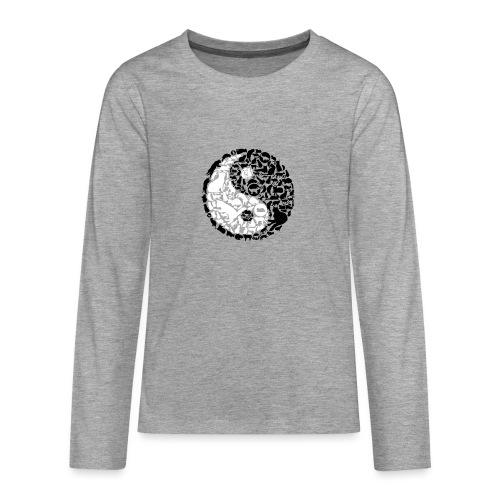 YinYang Cats - Teenager Premium Langarmshirt