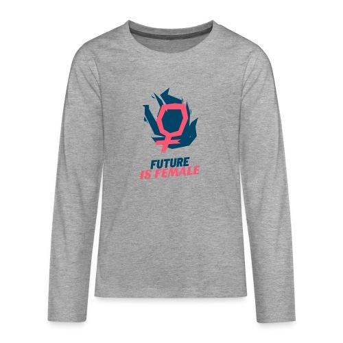 feminist t shirt design template with a bold style - Camiseta de manga larga premium adolescente