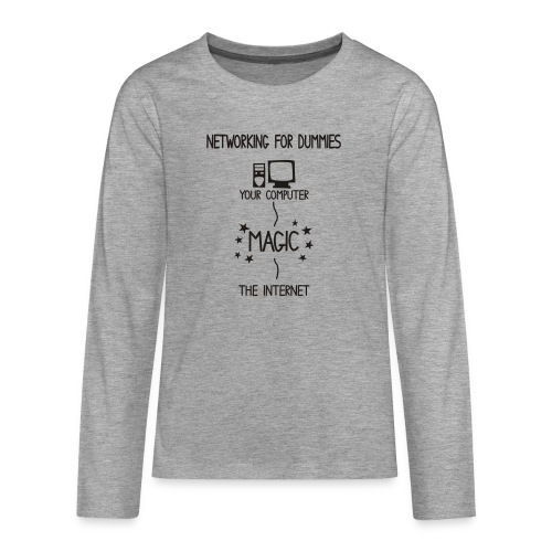 Network Schematic for Dummies - Teenagers' Premium Longsleeve Shirt