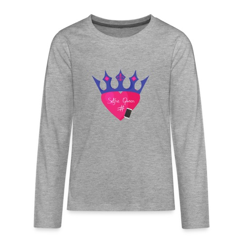 Humor Crown for real social media queens. - Teenagers' Premium Longsleeve Shirt