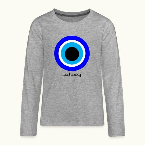 luck eye - Teenager Premium shirt met lange mouwen