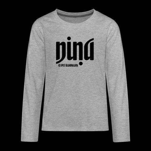 Ambigramm Nina 01 Pit Hammann - Teenager Premium Langarmshirt