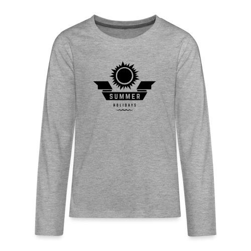 Summer holidays - Teinien premium pitkähihainen t-paita