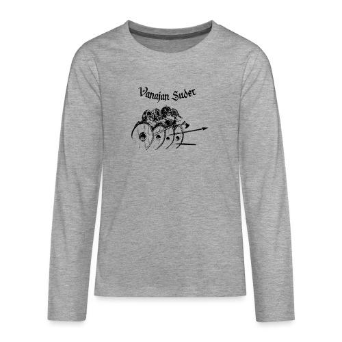 Kilpimuuri A - Teinien premium pitkähihainen t-paita