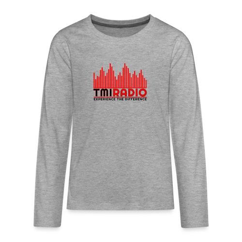 NEW TMI LOGO RED AND BLACK 2000 - Teenagers' Premium Longsleeve Shirt