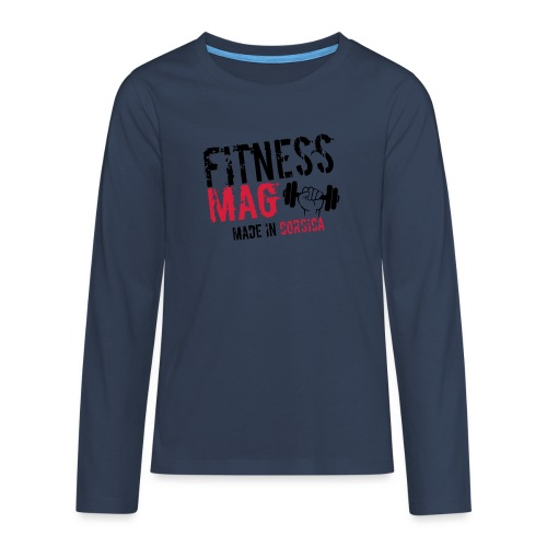Fitness Mag made in corsica 100% Polyester - T-shirt manches longues Premium Ado