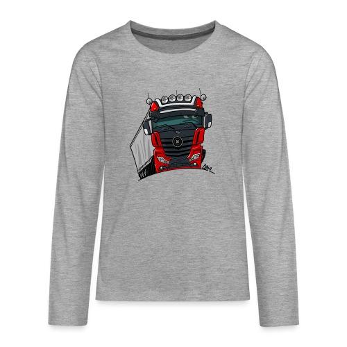 0807 M truck zwart rood - Teenager Premium shirt met lange mouwen