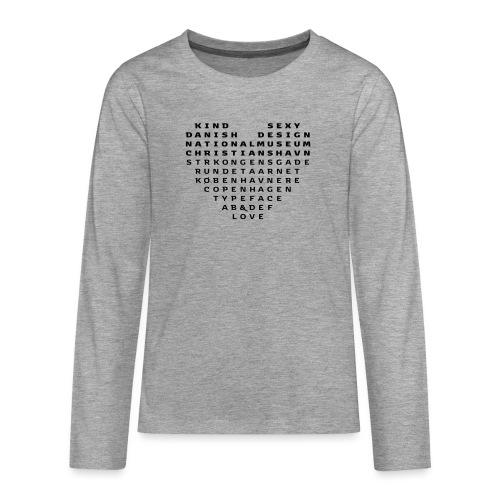 Copenhagen Heart - Teenager premium T-shirt med lange ærmer