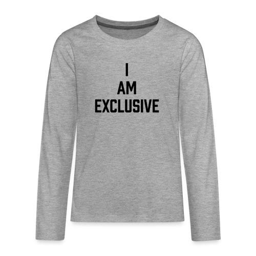 I am Exclusive - Teenager Premium Langarmshirt