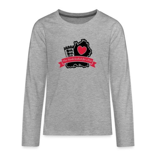 Herzle BW - Teenager Premium Langarmshirt