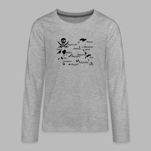 Crewshirt Motiv Griechenland - Teenager Premium Langarmshirt