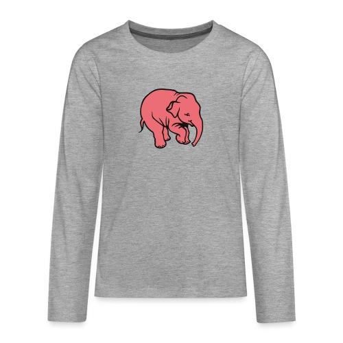 DT olifant - Teenager Premium shirt met lange mouwen