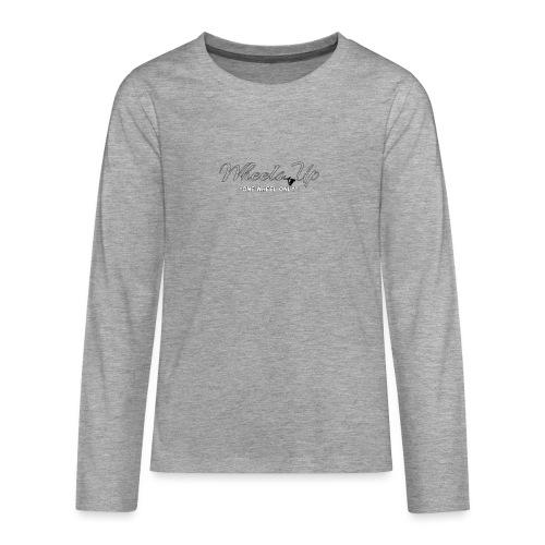 wheels up black figure - Teenagers' Premium Longsleeve Shirt