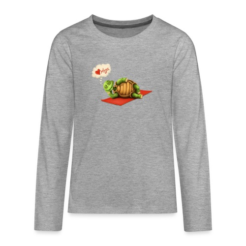 Love-Yoga Turtle - Teenager Premium Langarmshirt