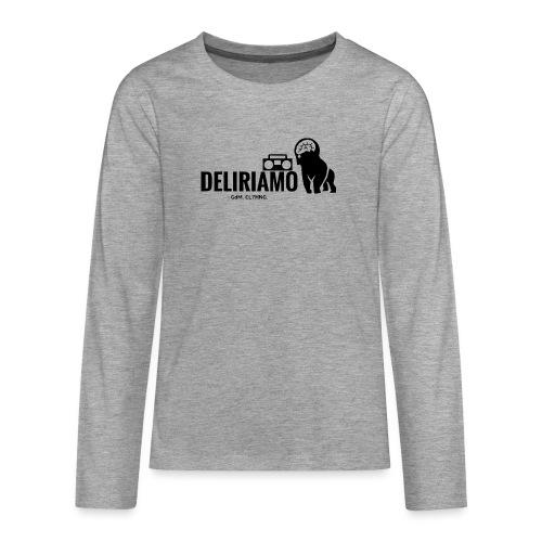 DELIRIAMO CLOTHING (GdM01) - Maglietta Premium a manica lunga per teenager