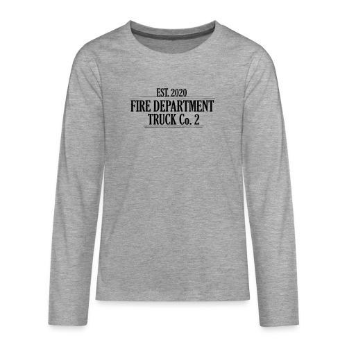 Truck Co.2 - BLACK - Teenager premium T-shirt med lange ærmer