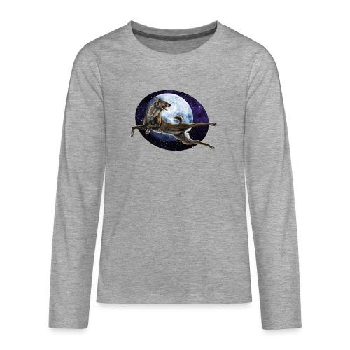 Galaxy Wolf - Teenager Premium Langarmshirt