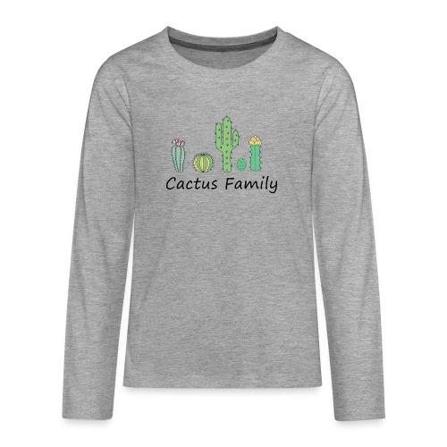 Cactus family - Teenager Premium Langarmshirt