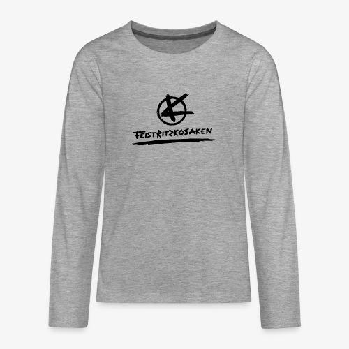 Feistritzkosaken Logo dunkel - Teenager Premium Langarmshirt