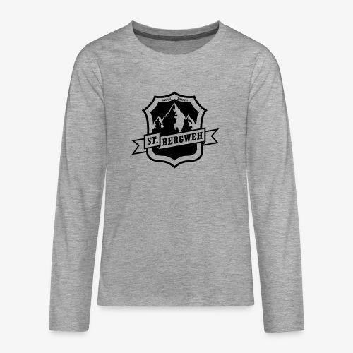 St. Bergweh Logo einfarbig - Teenager Premium Langarmshirt