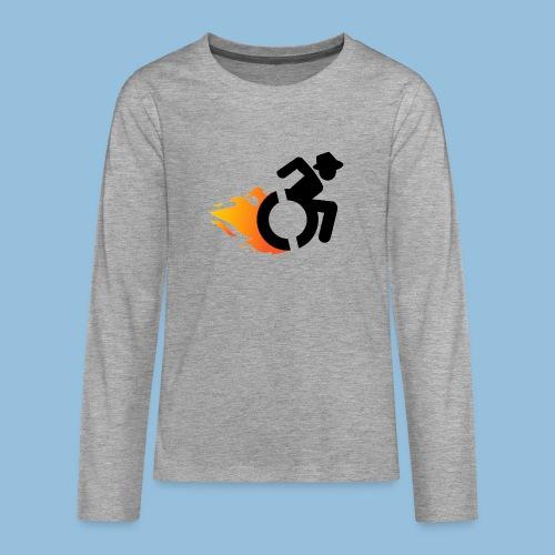 Roller met vlammen 016 - Teenager Premium shirt met lange mouwen