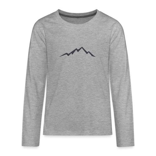 swiss alps clipart sihllouette ski mountains - Teenager Premium shirt met lange mouwen