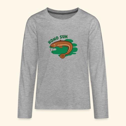 Homo sum ;) - Koszulka Premium z długim rękawem dla nastolatków