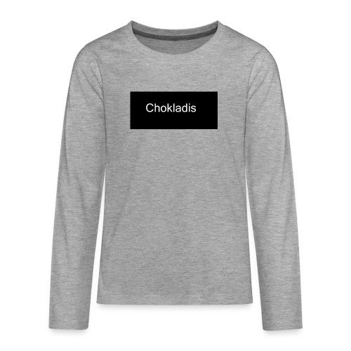 Chokladis Logo - Långärmad premium T-shirt tonåring