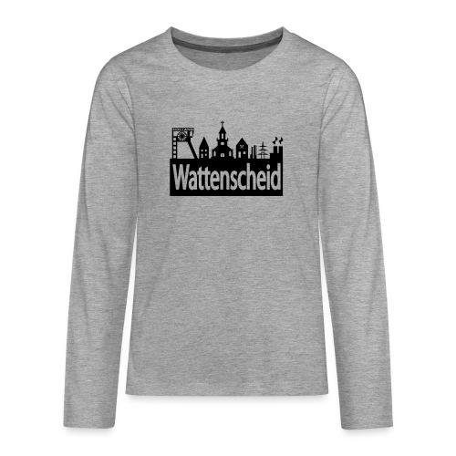 Skyline Wattenscheid - Teenager Premium Langarmshirt
