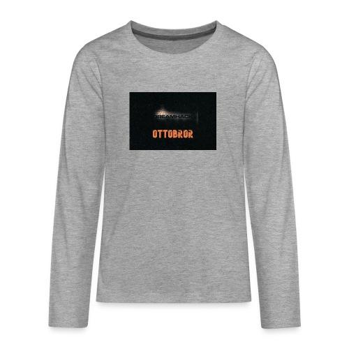 svart granit polerad - Långärmad premium T-shirt tonåring