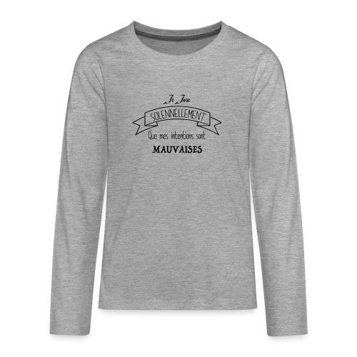 Je jure solennellement - T-shirt manches longues Premium Ado