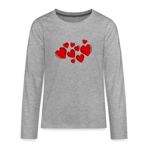 hearts herzen - Teenager Premium Langarmshirt