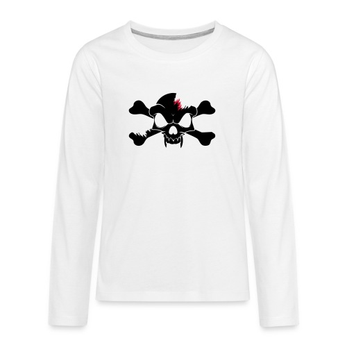 SKULL N CROSS BONES.svg - Teenagers' Premium Longsleeve Shirt