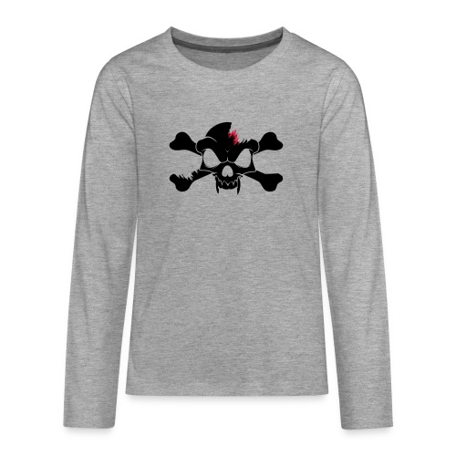 SKULL N CROSS BONES.svg - Teenagers' Premium Longsleeve Shirt