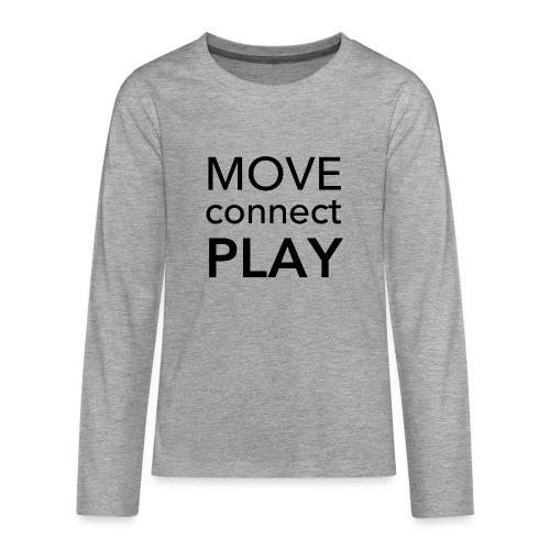 Move Connect Play - AcroYoga International - Teenagers' Premium Longsleeve Shirt