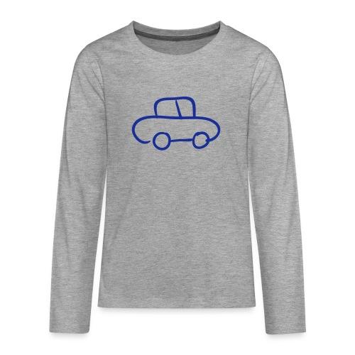 Van Line Drawing Pixellamb - Teenager Premium Langarmshirt