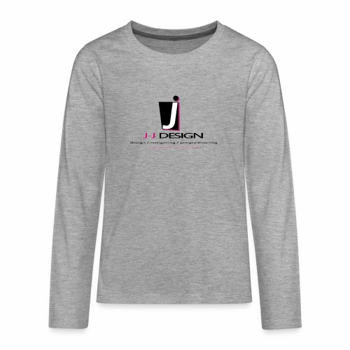 LOGO_J-J_DESIGN_FULL_for_ - Teenager premium T-shirt med lange ærmer