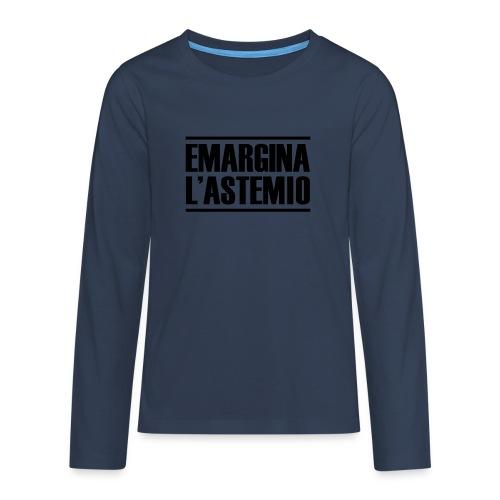 emargina l'astemio - Maglietta Premium a manica lunga per teenager