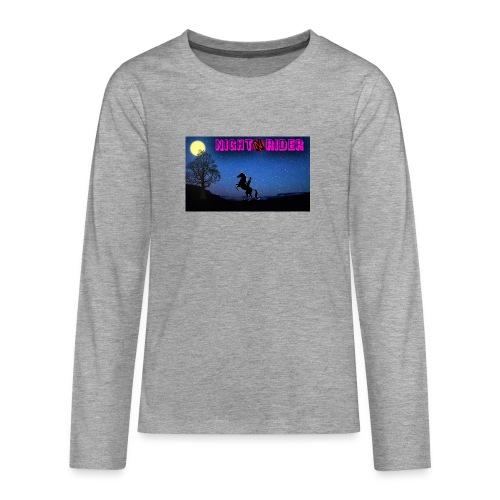 nightrider merch - Teenager premium T-shirt med lange ærmer