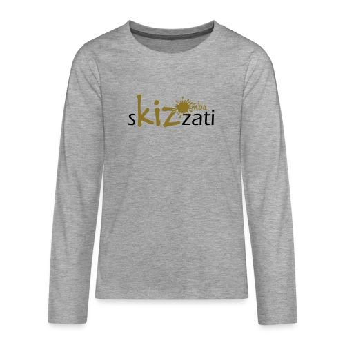 Beanie in jersey con logo sKizzati Kizomba - Verde - Maglietta Premium a manica lunga per teenager