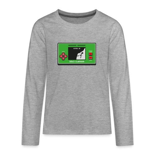Solo Climber Telespiel - Teenager Premium Langarmshirt