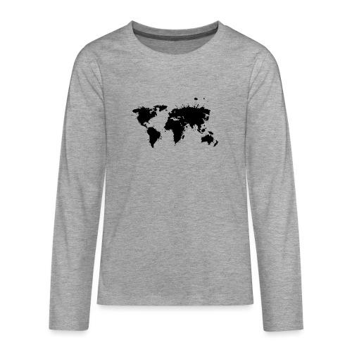 Weltkarte Splash - Teenager Premium Langarmshirt