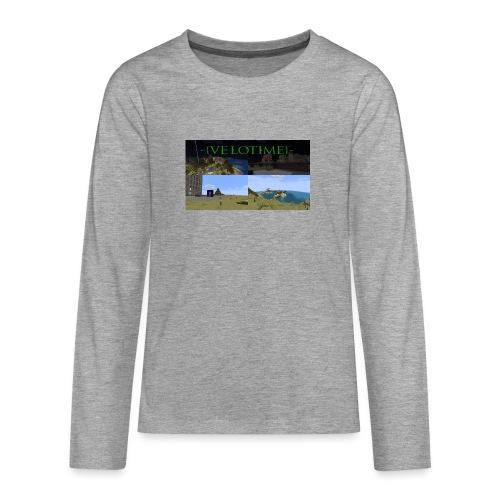 Velotime! - Långärmad premium T-shirt tonåring